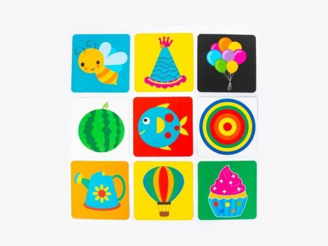 Mini Colourful High Contrast Cards