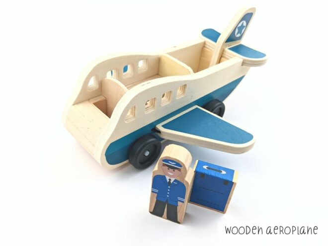 Wooden Aeroplane KB0047-2
