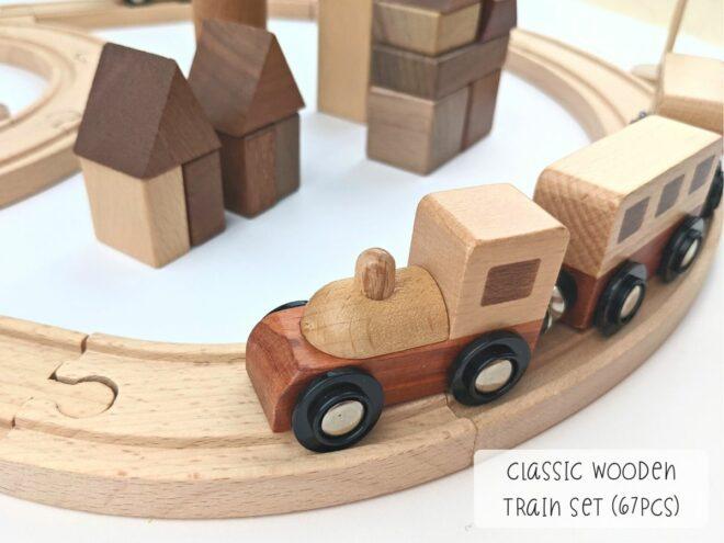 Classic Wooden Train Set (67pcs) KB0051-2