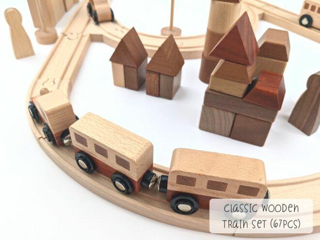 Classic Wooden Train Set (67pcs) KB0051-3
