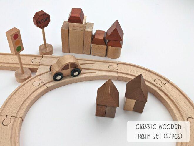 Classic Wooden Train Set (67pcs) KB0051-4