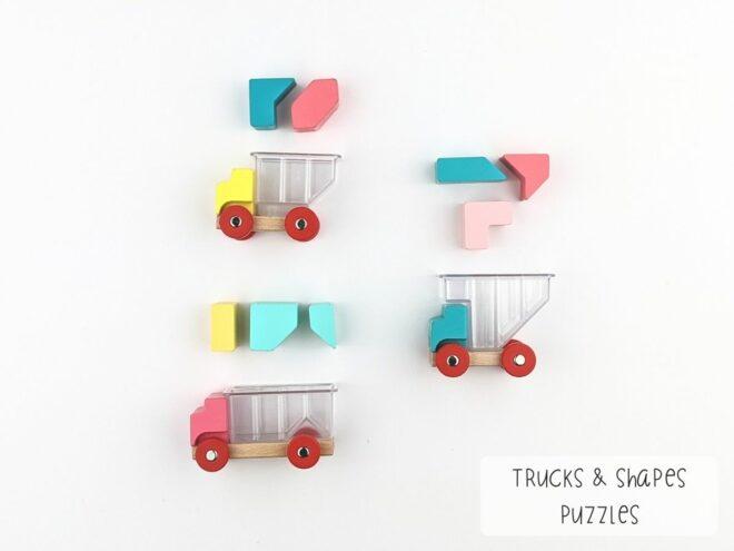 Trucks & Shapes Puzzles KB0066-2