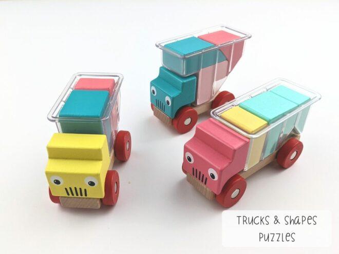 Trucks & Shapes Puzzles KB0066-3