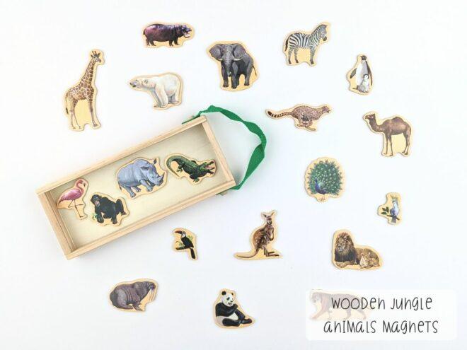 Wooden Jungle Animals Magnets KB0055