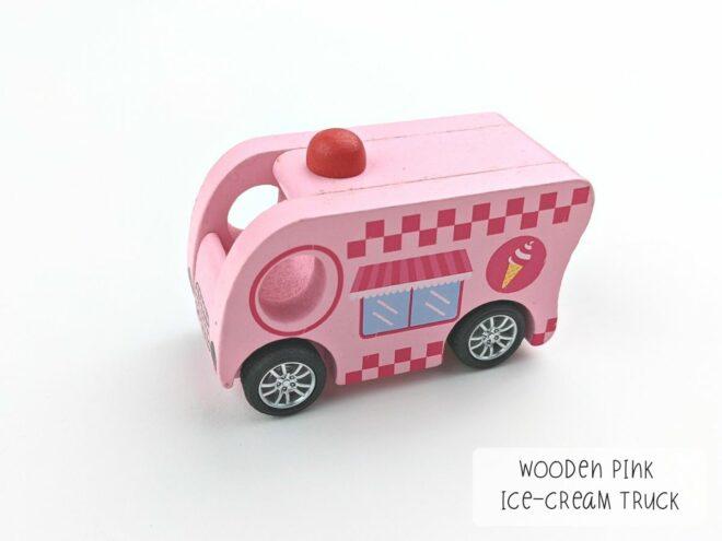 Wooden Pink Ice-cream Truck KB0050