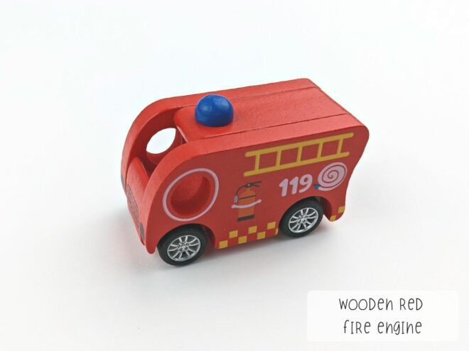 Wooden Red Fire Engine KB0049
