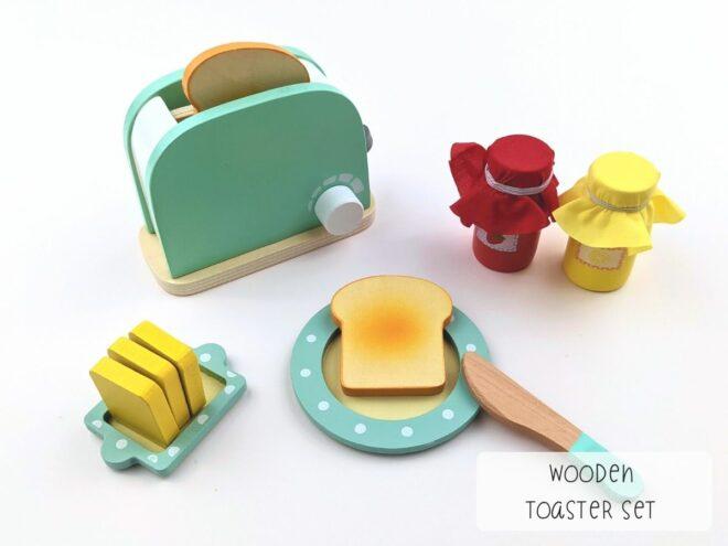 Wooden Toaster Set KB0053-1