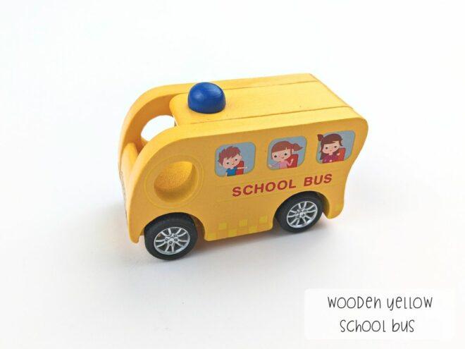 Wooden Yellow School Bus KB0048